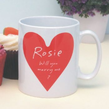 Personalised Will You Marry Me Mug - Unique Proposal Keepsake Gift - Valentine's Day or Leap Year Proposal Idea
